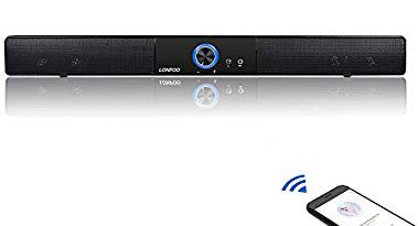 LONPOO 20 pouces Mini Barre de Son Bluetooth haut-parleur Stereo Enceintes 10W USB/CA Alimentation pour TV – qualité moyenne